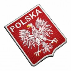 TIPL009 Polska Poland Shield Football Soccer Embroidered Patch Iron or Sew 3.1 x 3.7 x 0.1 inches